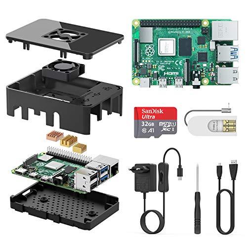 TICTID Raspberry Pi 4 Model B 1GB Kit/Upgraded Raspberry Pi 3 mit Quad-Core ARM-Cortex-A72/ 32GB Class10 Micro SD-Karte/unterstützt Bluetooth 5.0 /Dual Display 4K 60Hz und 1080P oder Zwei 4K 30Hz